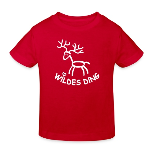 shirt t-shirt hirsch geweih hirschkopf elch hirschgeweih wald wild tier jäger jägerin jagd förster tiershirt shirt tiermotiv weihnachten rentier - Kinder Bio-T-Shirt