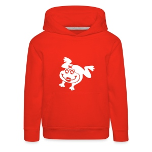 Kinder Kapuzenpullover Frosch mit Kussmund Tiershirt Shirt Tiermotiv - Kinder Premium Hoodie