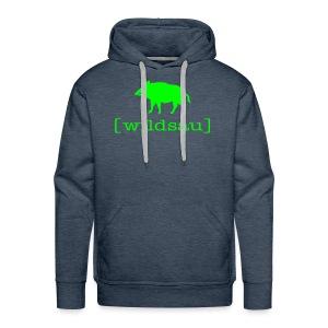 Herren Kapuzenpullover Wildsau Wildschwein Tiershirt Shirt Tiermotiv - Männer Premium Hoodie