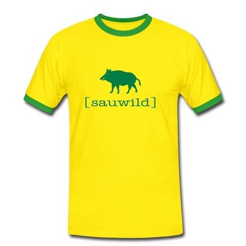 Herren Kontrast shirt sauwild wildschwein Tiershirt Shirt Tiermotiv - Männer Kontrast-T-Shirt