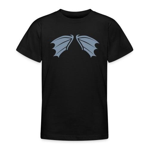 Kinder Shirt Fledermaus Vampir Flügel silber matt Tiershirt Shirt Tiermotiv - Teenager T-Shirt