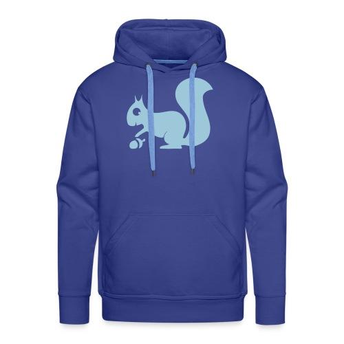 Herren Kapuzenpullover Eichhörnchen hellblau Tiershirt Shirt Tiermotiv - Männer Premium Hoodie