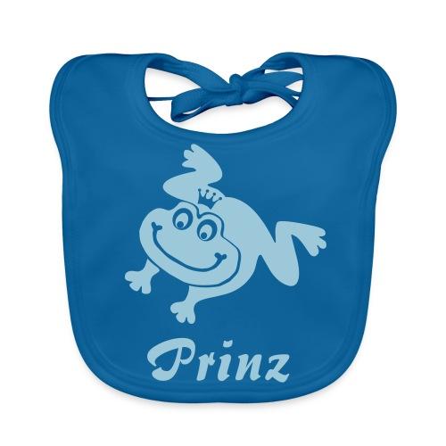 Bio Baby Lätzchen Prinz Frosch hellblau - Baby Bio-Lätzchen