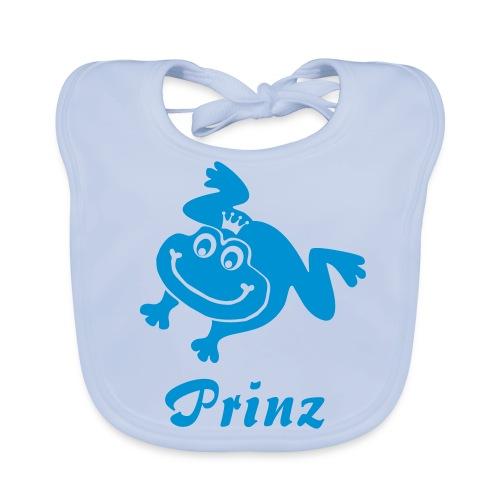 Bio Baby Lätzchen Frosch Prinz blau - Baby Bio-Lätzchen