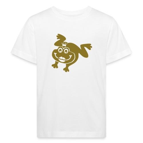 Bio Kinder Shirt Frosch Prinzessin gold matt Tiershirt Shirt Tiermotiv - Kinder Bio-T-Shirt