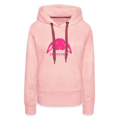 Damen Kapuzenpullover Beutetier Hase Häschen Kaninchen Tiershirt Shirt Tiermotiv - Frauen Premium Hoodie