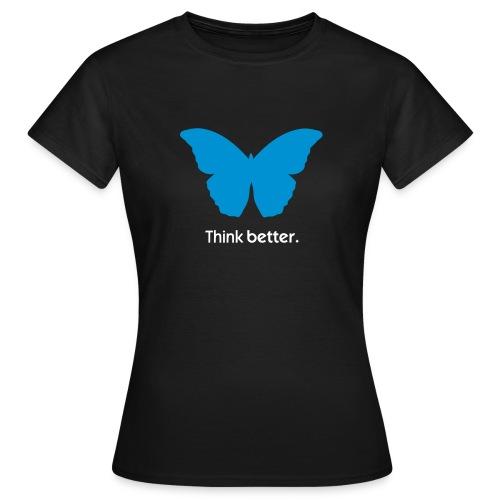 Think Better MorphOS, blau-weiss - Frauen T-Shirt