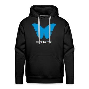 Think Better MorphOS, blau-weiss - Männer Premium Hoodie