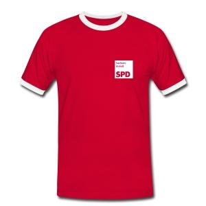 SPD Sachsen-Anhalt Kontrast-Shirt - Männer Kontrast-T-Shirt