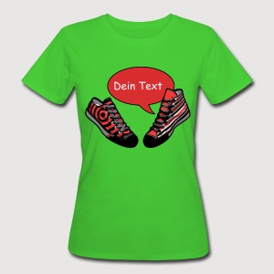 TALKING SHOES rot - Dein Text | Frauenshirt organic - Frauen Bio-T-Shirt