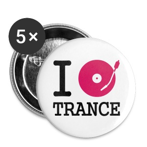 I love Trance 32mm Button - Buttons mittel 32 mm