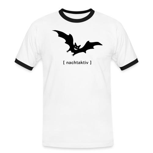 Herren KontrastShirt Fledermaus nachtaktiv Flügel Vampir Tiershirt Shirt Tiermotiv - Männer Kontrast-T-Shirt