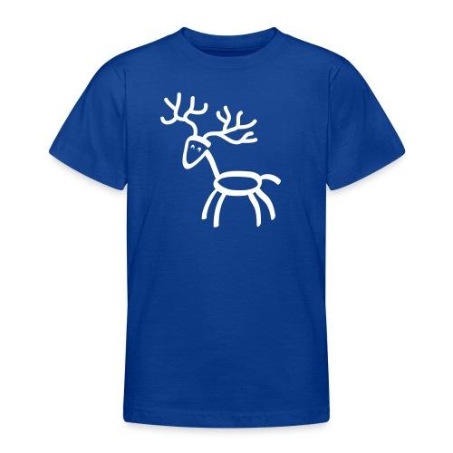 Kinder shirt Hirsch Elch Geweih weiss Tiershirt Shirt Tiermotiv - Teenager T-Shirt