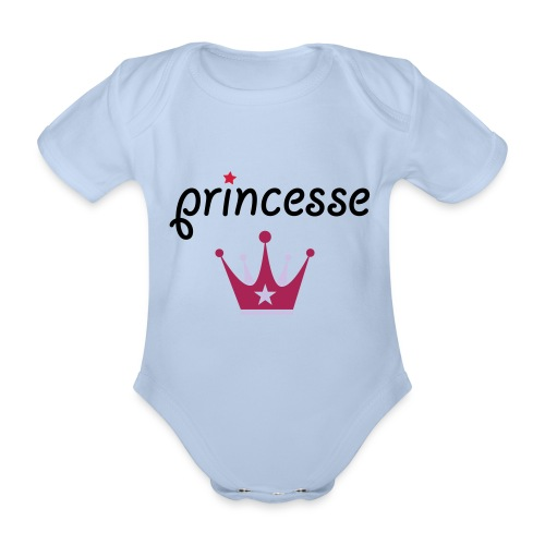 Pricesse body - Organic Short-sleeved Baby Bodysuit