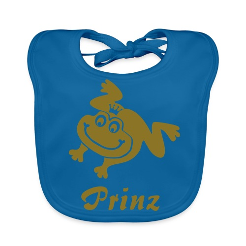 Bio Baby Lätzchen Frosch Prinz gold matt Tiershirt Shirt Tiermotiv - Baby Bio-Lätzchen