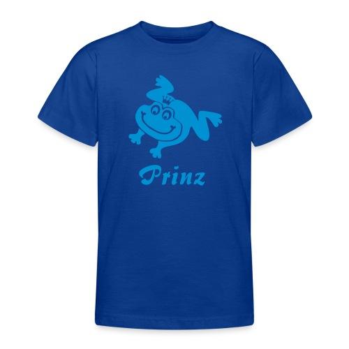 Kinder Shirt Frosch Prinz blau Tiershirt Shirt Tiermotiv - Teenager T-Shirt