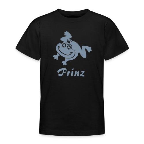 Kinder Shirt Frosch Prinz silber matt Tiershirt Shirt Tiermotiv - Teenager T-Shirt
