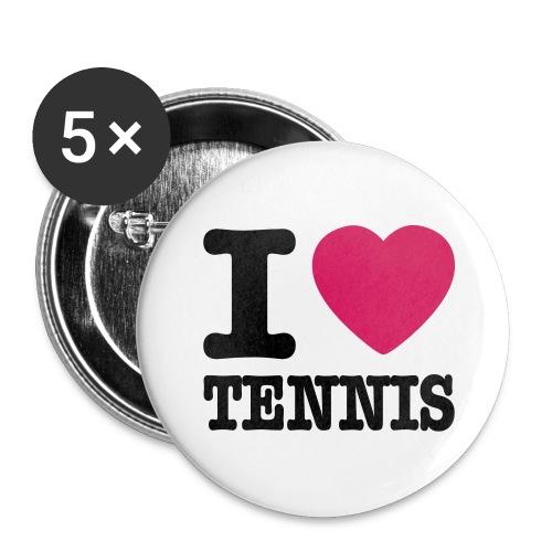 I Love Tennis Button 1 - Buttons groß 56 mm (5er Pack)