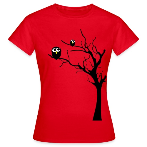 Eulen auf einem Baum - Frauen T-Shirt