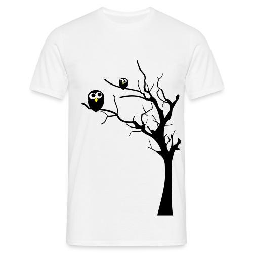 Eulen auf einem Baum - Männer T-Shirt