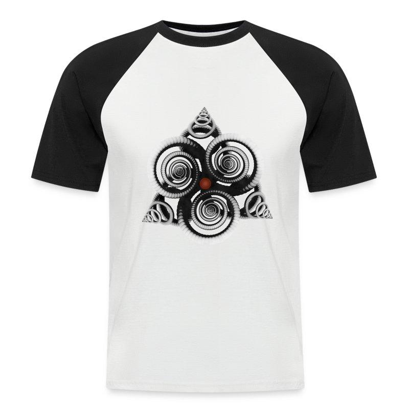 visuelalternatif - T-shirt baseball manches courtes Homme