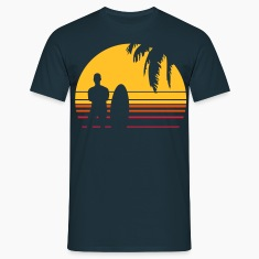 BEACH SURFING BOY PALME T-Shirts