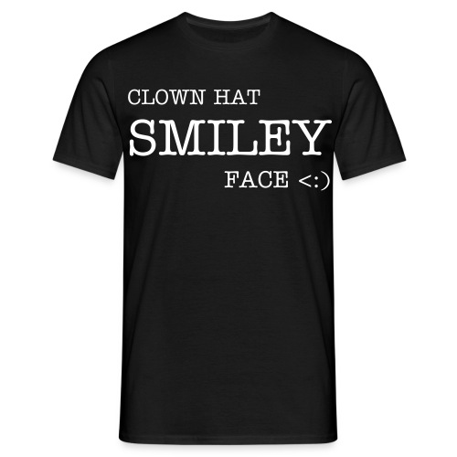 Clown Hat Smiley Face - Men's T-Shirt