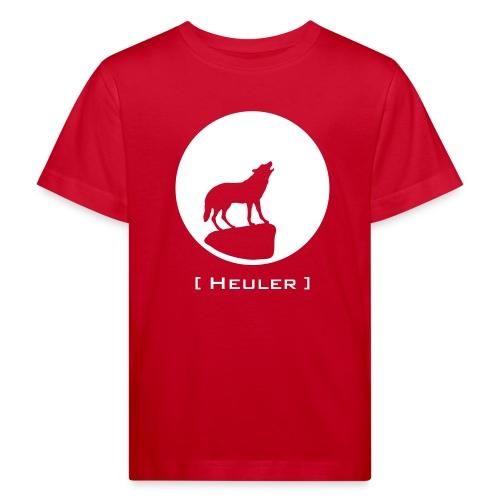 Bio Kinder Shirt Wolf canis lupus Mond Heuler weiss Tiershirt Shirt Tiermotiv - Kinder Bio-T-Shirt