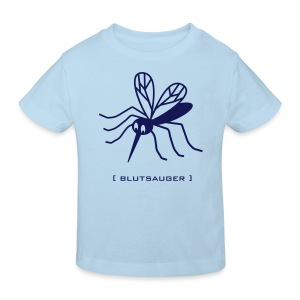 Bio Kinder Shirt Mücke Moskito Blutsauger blau Tiershirt Shirt Tiermotiv - Kinder Bio-T-Shirt
