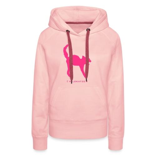 Damen Kapuzenpullover Katze Wildkatze pink Tiershirt Shirt Tiermotiv - Frauen Premium Hoodie