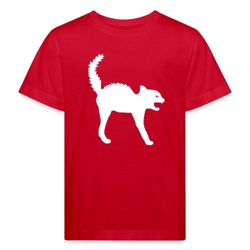Bio Kinder Shirt Katze Wildkatze weiss Tiershirt Shirt Tiermotiv - Kinder Bio-T-Shirt