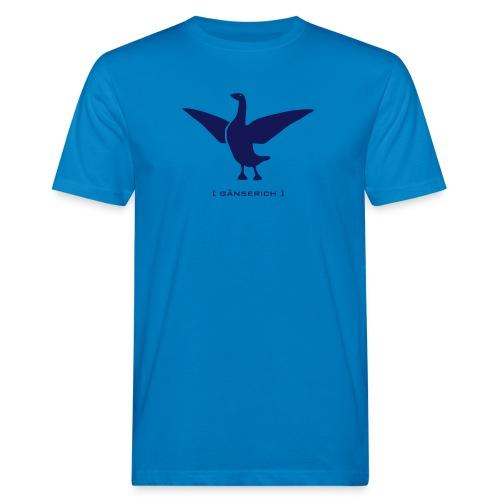 Bio Herren shirt Gans Gänserich blau Tiershirt Shirt Tiermotiv - Männer Bio-T-Shirt