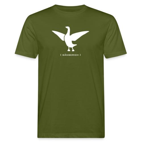 Bio Klimaneutral Herrenshirt Gans Gänserich weiss Tiershirt Shirt Tiermotiv - Männer Bio-T-Shirt