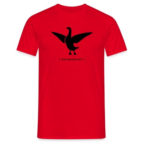 Herrenshirt Gans Gänserich Gänsebrust schwarz Tiershirt Shirt Tiermotiv - Männer T-Shirt