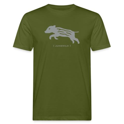 Bio Herren Shirt Wildschwein Ferkel Jungwild grau Tiershirt Shirt Tiermotiv - Männer Bio-T-Shirt