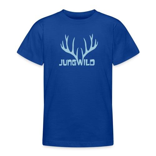 shirt t-shirt hirsch geweih hirschkopf elch hirschgeweih wald wild tier jäger jägerin jagd förster tiershirt shirt tiermotiv weihnachten rentier - Teenager T-Shirt