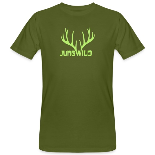 shirt t-shirt hirsch geweih hirschkopf elch hirschgeweih wald wild tier jäger jägerin jagd förster tiershirt shirt tiermotiv weihnachten rentier - Männer Bio-T-Shirt