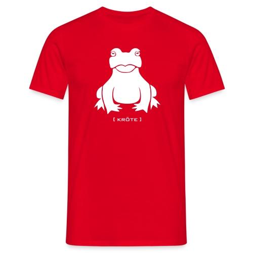 Herren Shirt Frosch Kröte weiss Tiershirt Shirt Tiermotiv - Männer T-Shirt