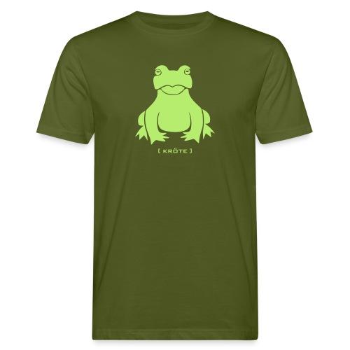Bio Herren Shirt Frosch Kröte hellgrün Tiershirt Shirt Tiermotiv - Männer Bio-T-Shirt