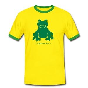 Herren Kontrast Shirt Frosch Kröte Kröterich grün - Männer Kontrast-T-Shirt