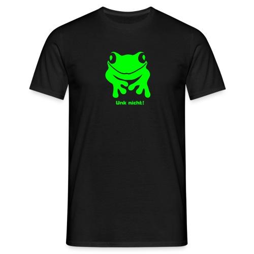 Herren Shirt Frosch Unke Unk nicht! neongrün Tiershirt Shirt Tiermotiv - Männer T-Shirt