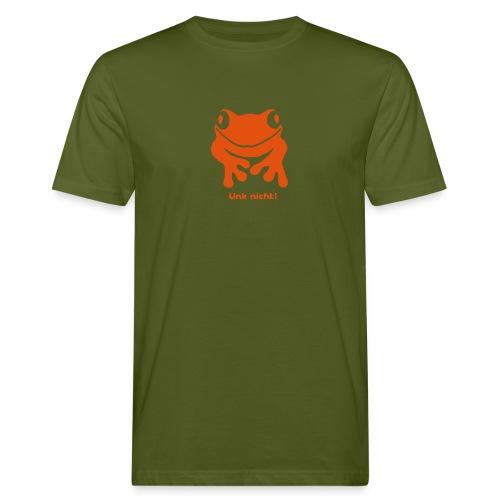 Bio Herren Shirt Frosch Unke Unk nicht! orange Tiershirt Shirt Tiermotiv - Männer Bio-T-Shirt