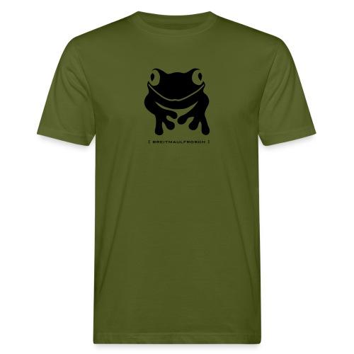Bio Klimaneutrales Herren Shirt Frosch Unke Breitmaulfrosch schwarz Tiershirt Shirt Tiermotiv - Männer Bio-T-Shirt