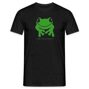 Herren Shirt Frosch Unke Breitmaulfrosch grün Tiershirt Shirt Tiermotiv - Männer T-Shirt