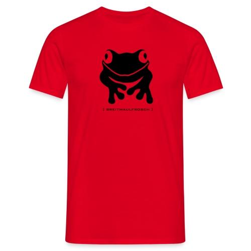 Herren Shirt Frosch Unke Breitmaulfrosch schwarz Tiershirt Shirt Tiermotiv - Männer T-Shirt