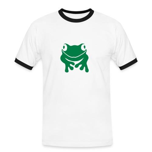 Herren Kontrast Shirt Frosch Unke grün Tiershirt Shirt Tiermotiv - Männer Kontrast-T-Shirt