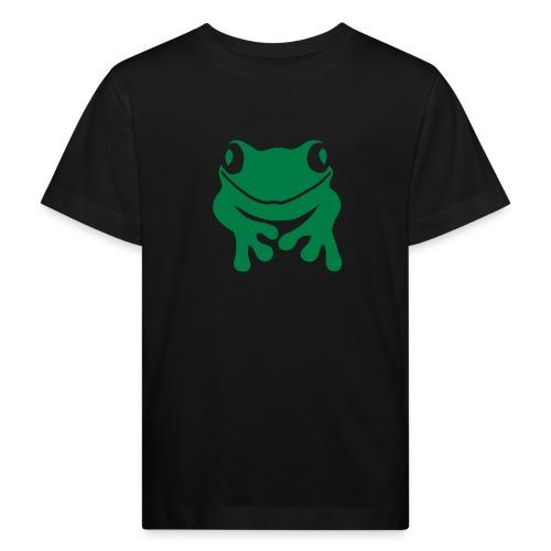 Bio Kinder Shirt Frosch Unke grün Tiershirt Shirt Tiermotiv - Kinder Bio-T-Shirt
