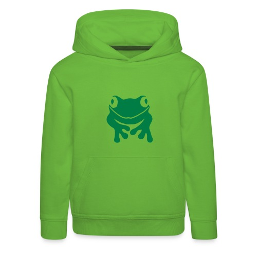 Kinder Kapuzenpullover Frosch Unke grün Tiershirt Shirt Tiermotiv - Kinder Premium Hoodie