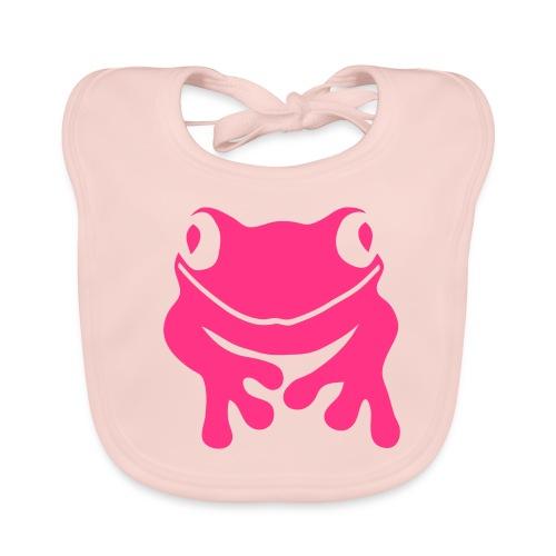 Bio Baby Lätzchen Frosch pink Tiershirt Shirt Tiermotiv - Baby Bio-Lätzchen