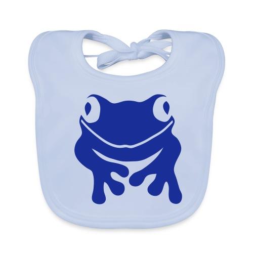 Bio Baby Lätzchen Frosch blau Tiershirt Shirt Tiermotiv - Baby Bio-Lätzchen